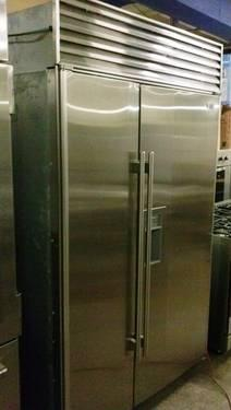 Sub-Zero 48 Inch 690S Side By Side Stainless Steel Refrigerator