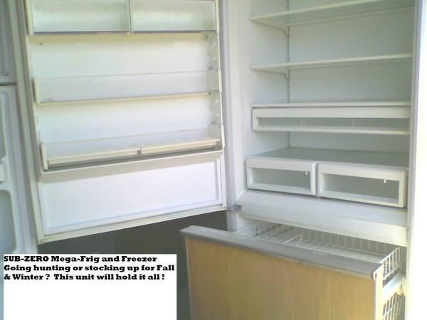 SUB-ZERO REFRIGERATOR  FREEZER - $349. OR BEST OFFER - $349