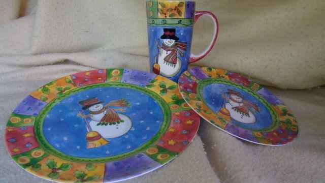 Sue Zipkin Sango Sweet Shoppe Christmas Dishes and Mugs for sale in Orange, California