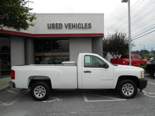 summit white 2007 chevrolet 1500 v8 regular cab long bed work truck ca for sale in greensboro. Black Bedroom Furniture Sets. Home Design Ideas