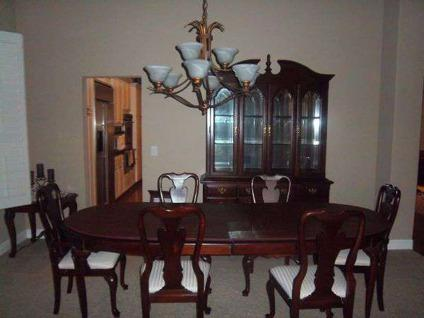 Sumter Cherry China Cabinet/Hutch, Table, 6 Chairs