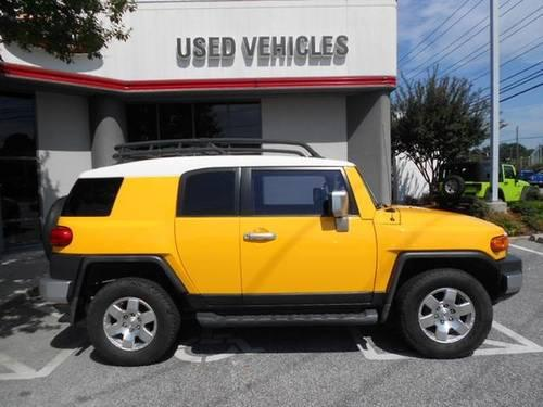 sun fusion yellow 2007 toyota fj cruiser 4wd sport suv carfax we finan for sale in greensboro. Black Bedroom Furniture Sets. Home Design Ideas