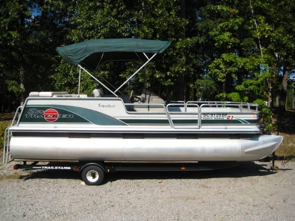 suntracker pontoon signature series 21 ft for sale in macon georgia classified. Black Bedroom Furniture Sets. Home Design Ideas