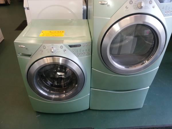 SUPER GOOD VAPOR WHIRLPOOL DUET WASHER AND GAS DRYER - $899