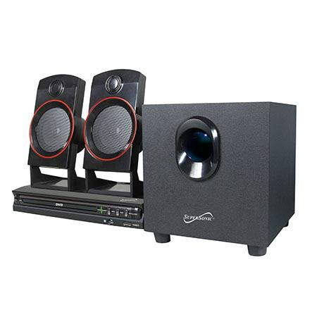 Supersonic 2.1 Channel DVD/CD/MP3 Home Theater Sound