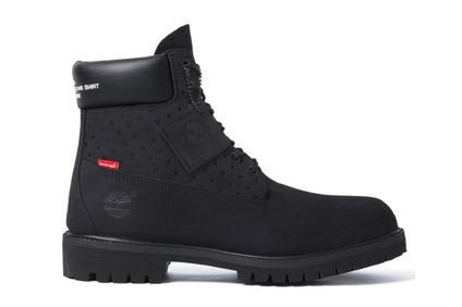 Supreme X Timberland X Comme des Garons Boots Size 9 BLACK