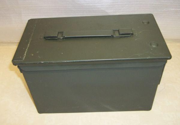 Surplus Military Ammo Cans, Metal, with rubber gasket sealing lid