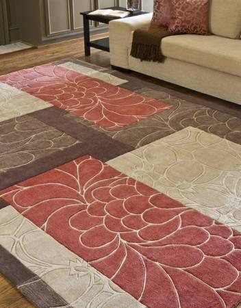 SURYA contemporary 8*11 rug + FREE matching curtains! for Sale in ...