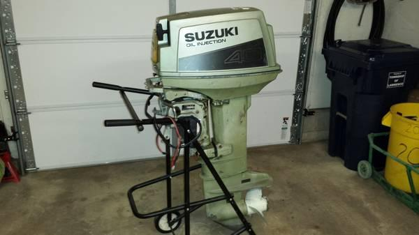 suzuki 40 hp outboard motor 2 stroke longshaft for sale