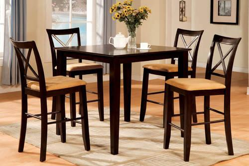 Sydney II Square Espresso Finish 5pc. Counter Height