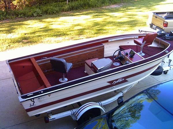 Sylvan 16 foot aluminum fishing boat and trailer 16 for Sylvan fishing boats