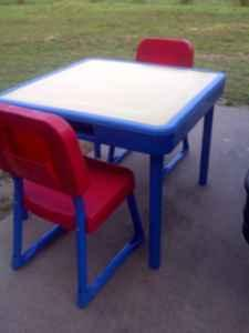 Table and chairs by fisher price elon for sale in greensboro table and chairs by fisher price 15 elon watchthetrailerfo