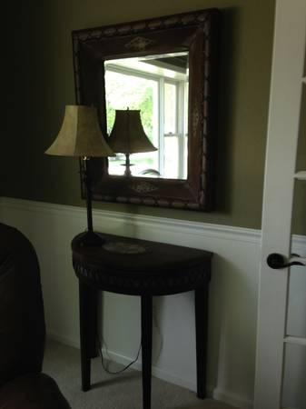 Table and Mirror Set - $75
