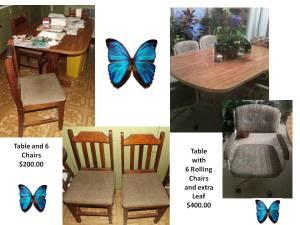 Tables and Chairs - $200 (Anderson)