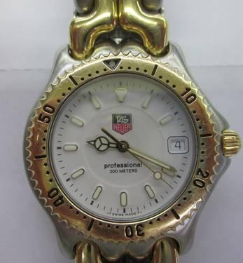 TAG HEUER PROFESSIONAL WG1122-0 WHITE FACE MENS WATCH 2 ...