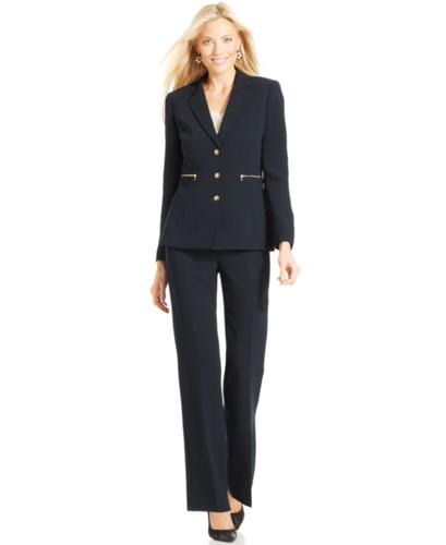 Tahari by ASL Suit, Three-Button Jacket & Trousers