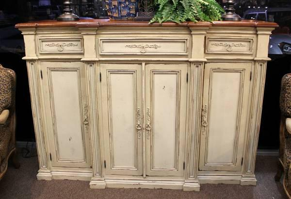 Tall ivory habersham style sideboard console for sale for Interior design 77379