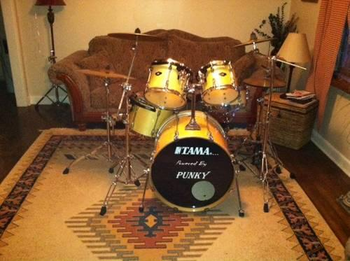 Tama Custom Blonde Super Star Drums with Star Cast Mounting System