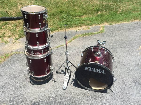 tama drums shell pack w cymbals for sale in bristol tennessee classified. Black Bedroom Furniture Sets. Home Design Ideas