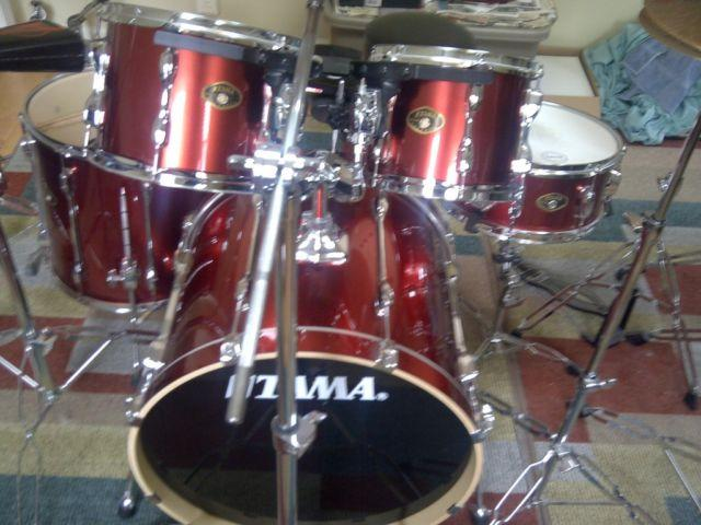 tama rockstar 5 piece drum set for sale in mansfield center connecticut classified. Black Bedroom Furniture Sets. Home Design Ideas