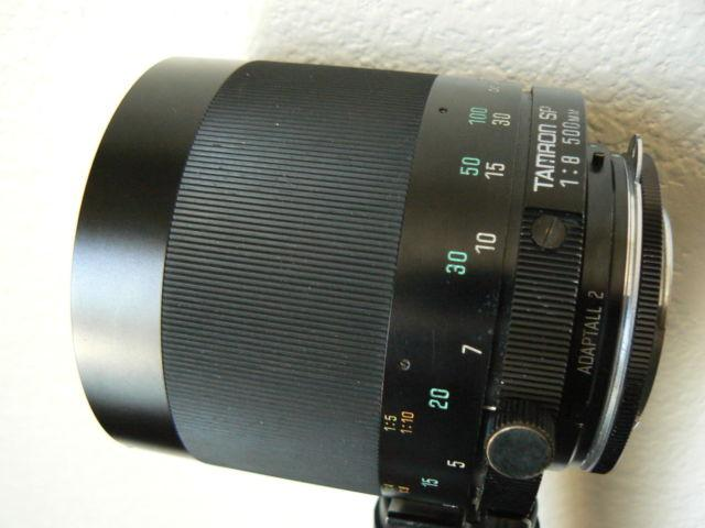Tamron 500mm f/8 Mirror Tele/Macro Lens(55BB) MC for