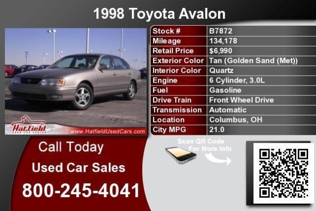 Tan 1998 Toyota Avalon XLS
