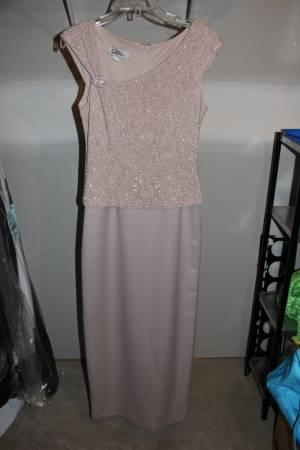 Tan Full Length Formal Dress - $50