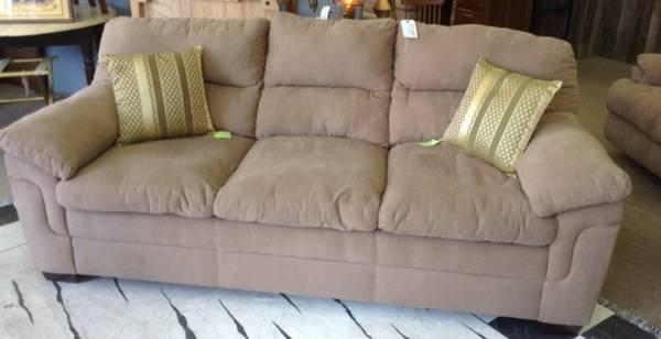 Tan Microfiber Couch (New For Sale In Evansville, Indiana