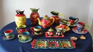 Tea Party Dishes Joyce Shelton Giftcraft Sw Mopac