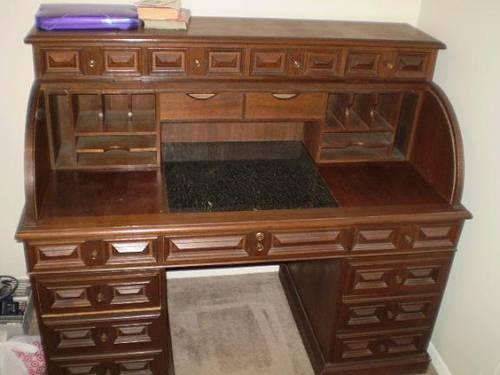 Teak Roll Top Desk For Sale In Tulsa Oklahoma Classified
