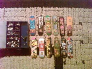 Tech decks x12 With Carrying Case - $25 rockford,il
