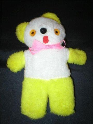 Teddy Bear Yellow Amp White 11 Quot Tall 1970 S Vintage