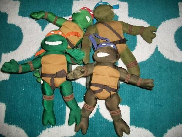 Teenage Mutant Ninja Turtles 2003 Toys : Teenage mutant ninja turtles plush set of