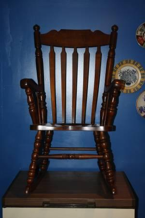Tell City Chair Hard Rock Maple Rocker R802 Rumford #49