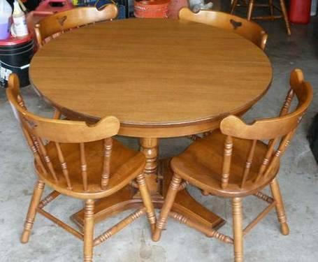 Dining table tell city dining table 6 chairs best antique for Furniture republic