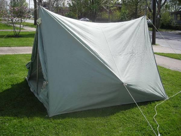 Tent pup tent style eureka by sail craft canvas for for A frame canvas tents for sale