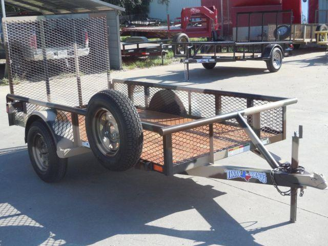 Texas Bragg Single Axle 5 X 10 Pipe Top Utility Trailer W
