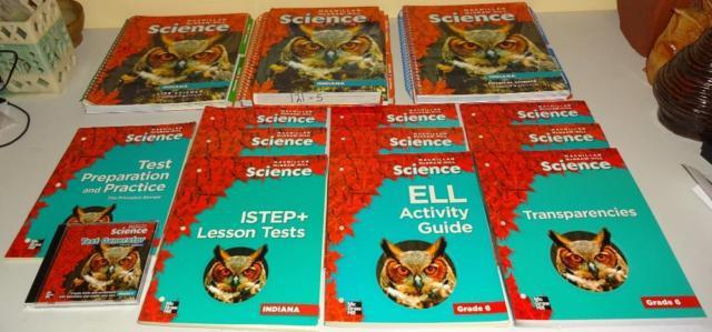 Textbook Set for 6th Grade Science Macmillan McGraw-Hill