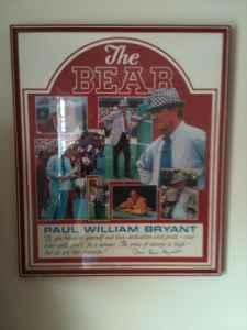 THE BEAR ( Paul William Bryant ) - $175 (Tuscaloosa )