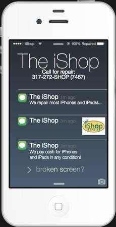The iShop Apple Repair open 10-6 Mon-Sat