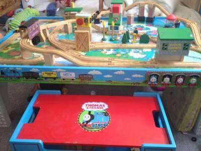 Thomas & Friends Wooden Railway Set, Island of Sodor Table & Board ...