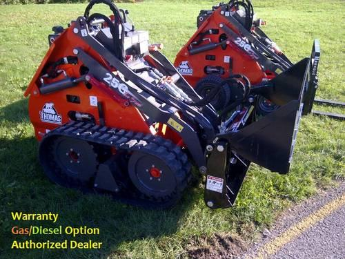 Thomas Mini Skid Steer-Compact Loader 25GT WT AttachmentsOptional