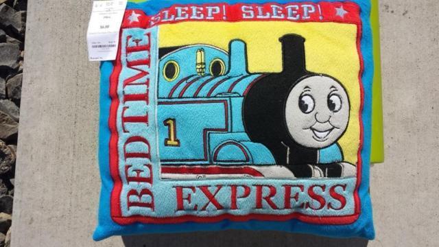Thomas the TRAIN Square BedTime EXPRESS Sleep Fleece Pillow, U.E.C.