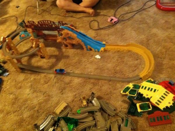Thomas train...... A lot of thomas trains