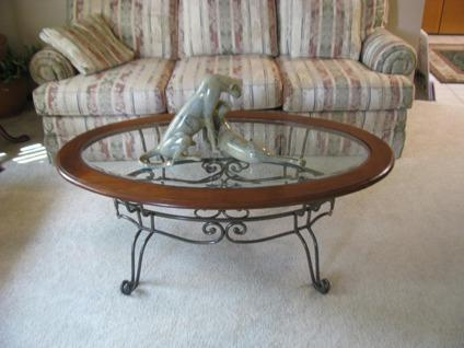 Thomasville Cherry Metal Amp Glass Coffee Table For Sale In