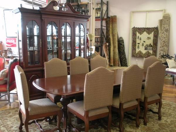 Thomasville Dining Table China Cabinet Andre Originals Chairs F