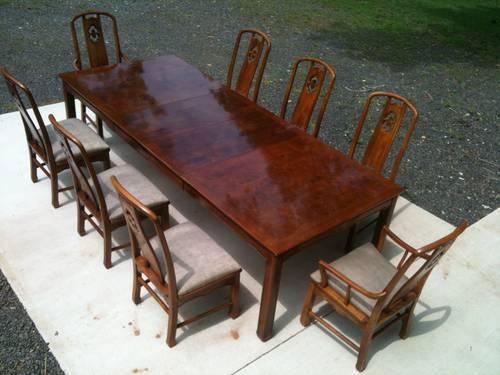 Thomasville Formal Dining Table 8 Chairs Beautiful