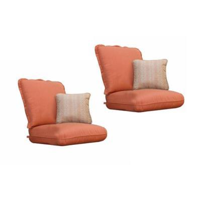 thomasville messina canvas paprika replacement patio club chair cushion and throw pillow set 2