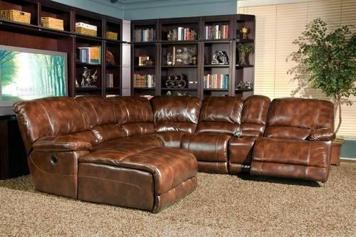 THOMASVILLE POWER MOTION SECTIONAL SOFA 100% LEATHER for ...