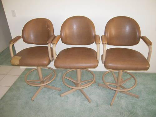 Pleasant Three Used Oversized Casual Dining Bar Stools Or Counter Alphanode Cool Chair Designs And Ideas Alphanodeonline